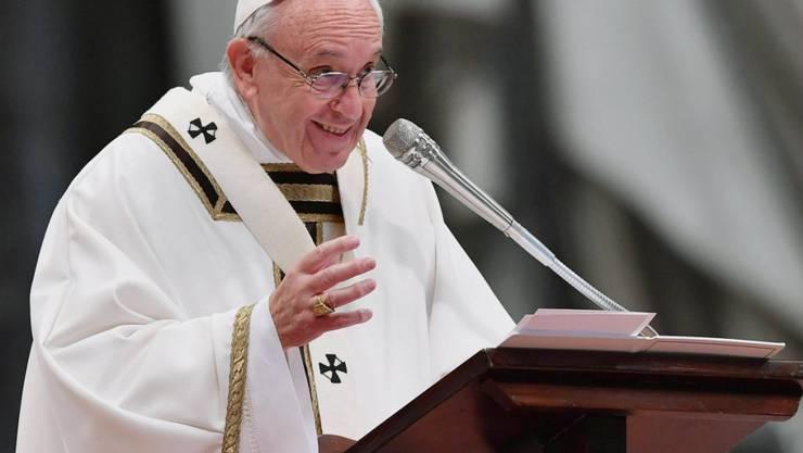 Papst Franziskus bei der Chrisam-Messe im Petersdom.