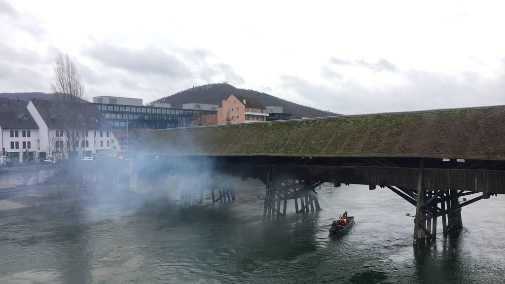 Brand Holzbrücke Olten