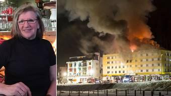 Marica Malbasic war mit ihrem Partner Reini Kuhn beim Brand im «Posthotel» in Arosa.