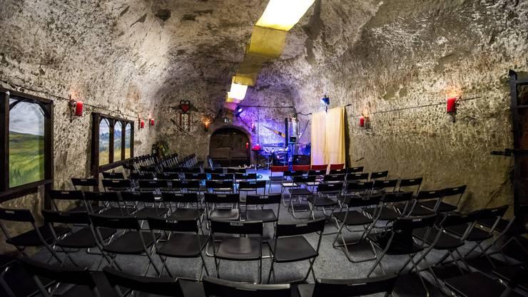 Ab sofort findet im Sandsteinkeller des Buechischlössli die Konzertreihe «sidefin» statt. Der erste Anlass war bereits ausverkauft.