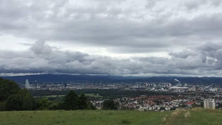 Die Aussicht auf Basel vom Tüllinger aus