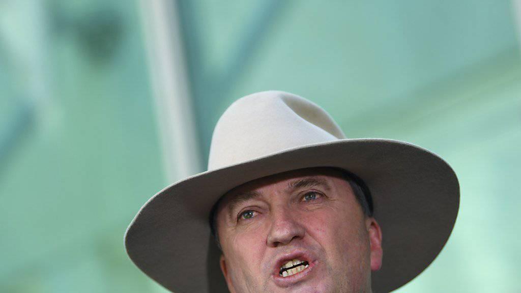 Nimmt nach mehreren Affären den Hut: Australiens Vize-Premierminister Barnaby Joyce. (Archivbild)