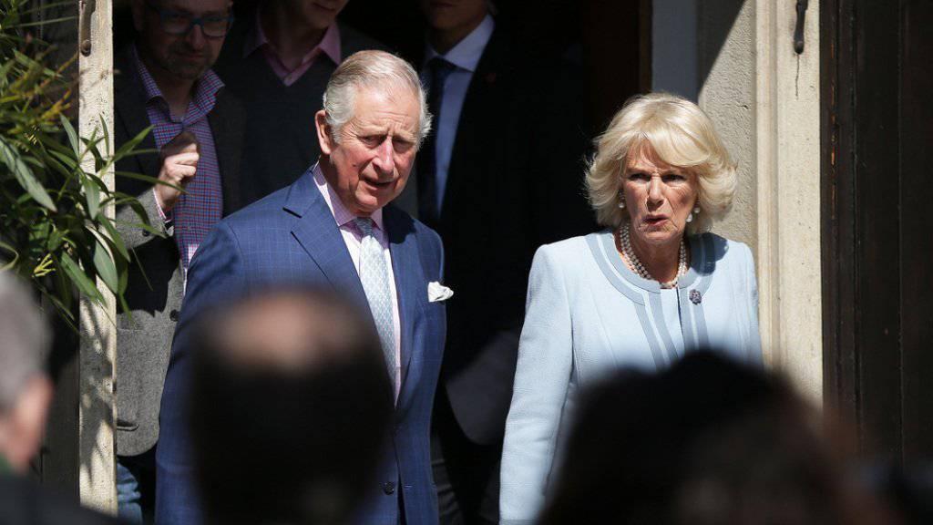 Der britische Thronfolger Prinz Charles und seine Ehefrau Herzogin Camilla am Donnerstag in Wien.