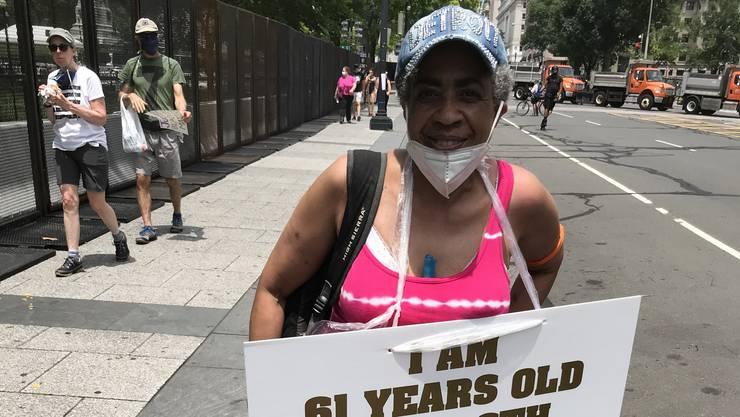 Edythe Ford reiste aus Detroit an, um am Samstag in der amerikanischen Hauptstadt zu demonstrieren.