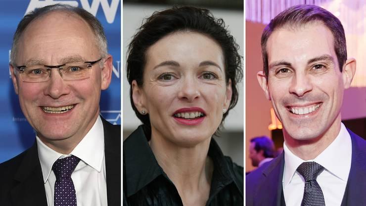 Wurden vom Aargauischen Gewerbeverband empfohlen: Hansjörg Knecht, Marianne Binder und Thierry Burkart.