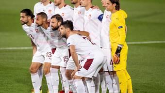 Die Schweizer Startelf in Madrid gegen Spanien.