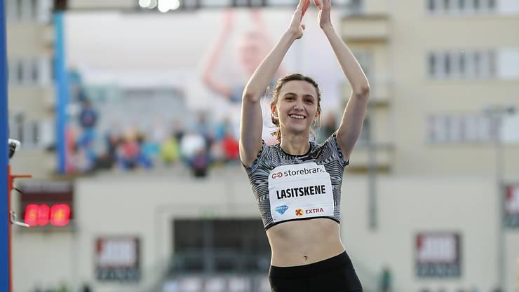 Kam dem Weltrekord schon sehr nahe: die russische Hochspringerin Maria Lasizkene