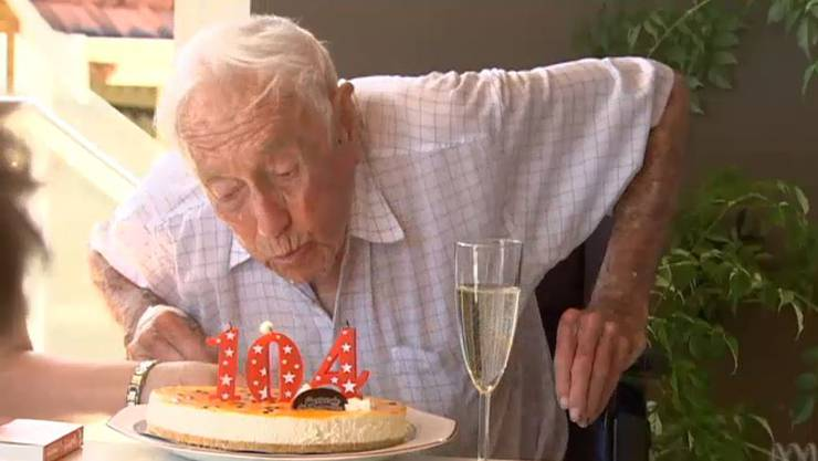 David Goodall an seinem 104. Geburtstag.