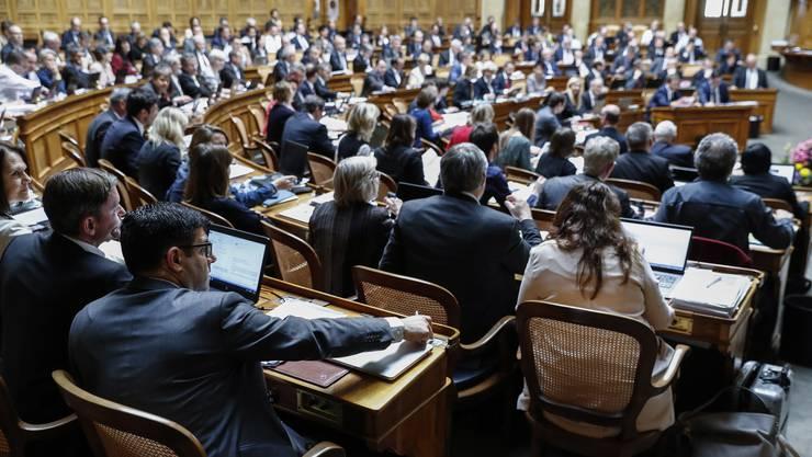 Blick in den Nationalratssaal im Bundeshaus. (Archivbild)