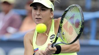 Belinda Bencic (18) erreicht in Washington an der Seite der Französin Kristina Mladenovic den Doppel-Final