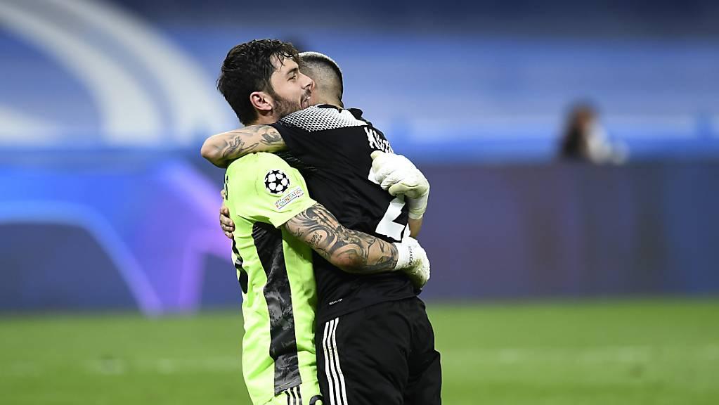 Torhüter und Stürmer im Glück: Sheriff Tiraspol scheint in der Champions League keine Grenzen zu kennen