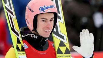 Der 21-jährige Favorit für den Tournee-Sieger Stefan Kraft war schon von klein auf ein Fan von Simon Ammann.
