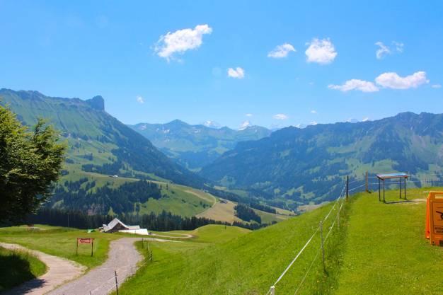 Blick von der Marbachegg in Richtung Süden.
