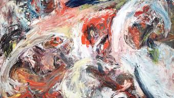 «Women thrown into twilight», Martin Disler, 1984. Acryl auf Leinwand, 170×235 cm.