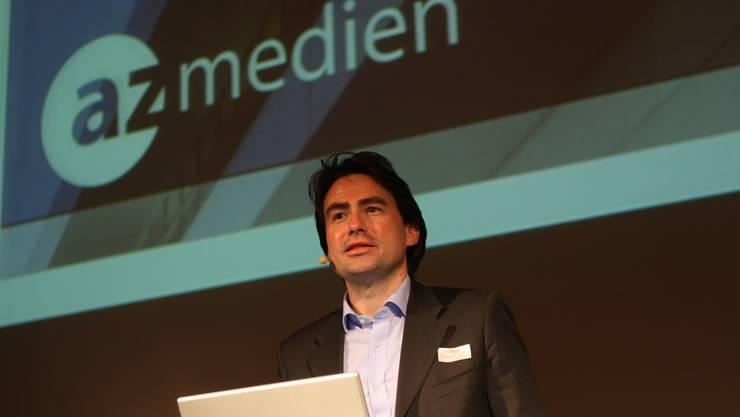 Christoph Bauer referierte über die Zukunft der Tageszeitung.
