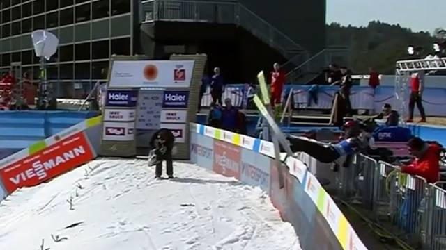 Skispringer-Unfall: Schreckensmoment beim WM-Training