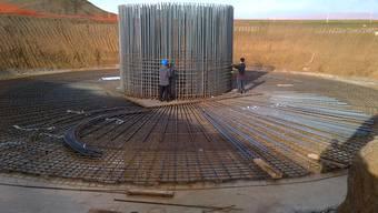 Die Bauarbeiten am Windpark Atrebatie schreiten voran