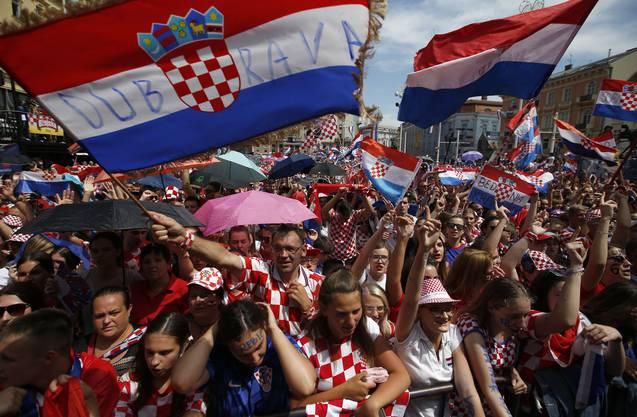 550000 Kroaten sind gekommen, um das Team zu feiern