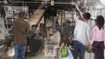 Wie auf dieser Visualisierung soll die Alte Schmiede in Boniswil als Ausstellungsraum erhalten werden.