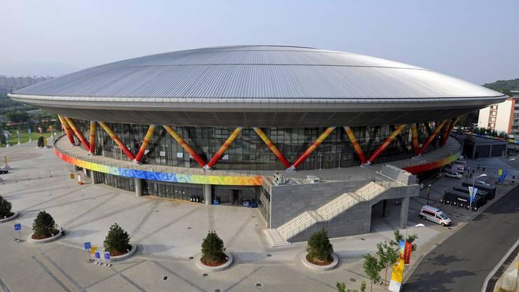Es muss ja nicht gleich eine Luxus-Radbahn wie das Olympia-Velodrom in Peking (Bild) sein: Die Baselbieter Initianten denken an eine einfache Holz-Konstruktion für den Hobbysportler.