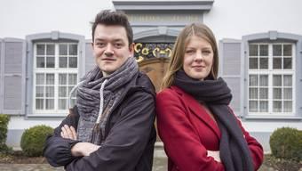 Sie wollen, dass die SP erst in die Regierung zieht, wenn eine linke Mehrheit möglich ist: Juso-Co-Präsidenten Nils Jocher und Ronja Jansen.