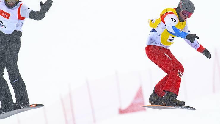 Kalle Koblet blieb wie sämtliche Schweizer Snowboardcrosser in der ersten K.o.-Runde hängen