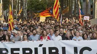 Kataloniens Unabhängigkeit wird womöglich am Montag ausgerufen. (Bild vom 3.10.2017)
