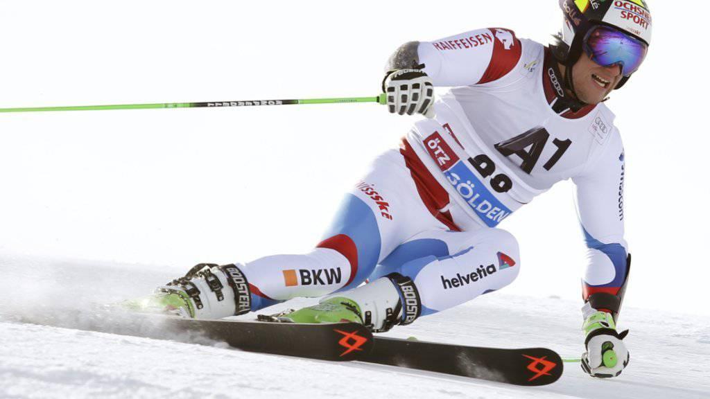 Justin Murisier war im Riesenslalom von Sölden als 15. der bestklassierte Schweizer Fahrer.
