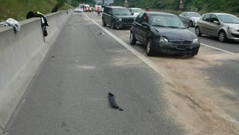 Unfall auf der A2 bei Muttenz