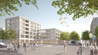So wird das neue Geroldswiler Zentrum voraussichtlich ab Mitte 2019 aussehen.