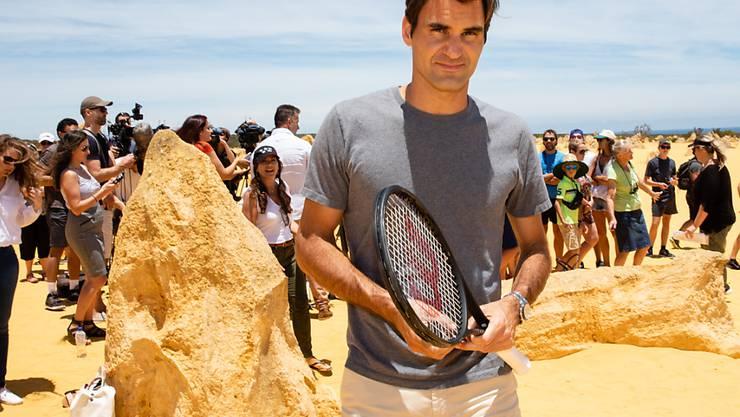 Im Mittelpunkt des Interesses: Roger Federer