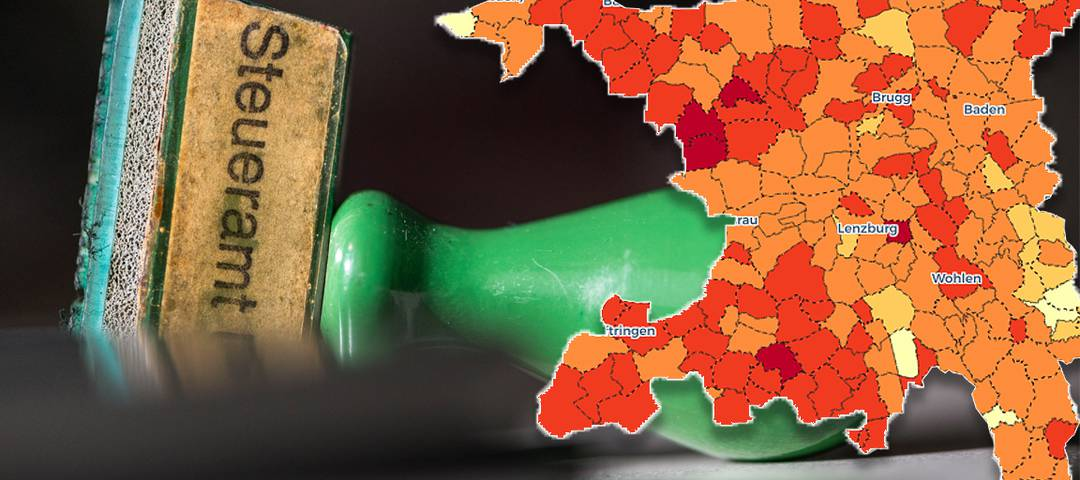 Wie sich die Aargauer Steuerfüsse verändert haben, zeigt die interaktive Karte (unten).