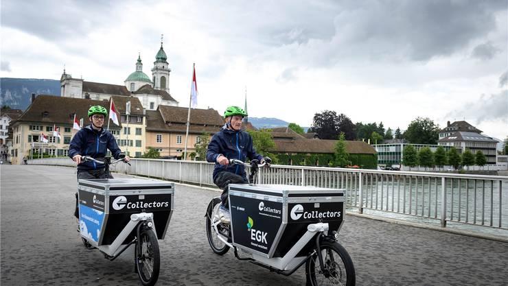 Die «Collectors» in Solothurn unterwegs.