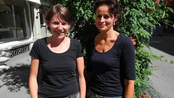 Die neuen Vorstandsfrauen Claudia Dahinden und Manuela Hendry.