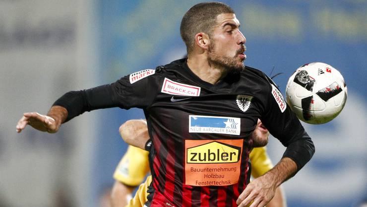 Stürmer Alessandro Ciarrocchi erzielte bei der 1:6-Testspielniederlage gegen Thun den einzigen Treffer für den FC Aarau