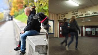 Den Ländiweg (Bild links) und die Winkelunterführung haben die Befragten am häufigsten als Ort angegeben, wo sie Angst empfinden.