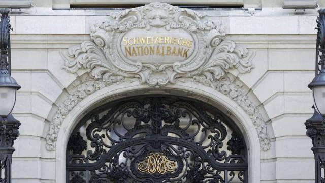 Haupteingang der Schweizerischen Nationalbank in Bern