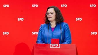 Ist nicht mehr SPD-Chefin: Andrea Nahles.