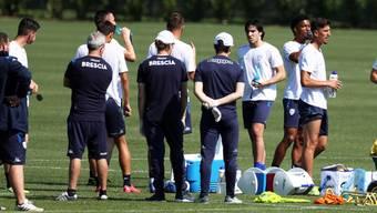 In der Serie A sind bis Saisonende ebenfalls fünf Wechsel erlaubt. Im Bild ein Vorbereitungstraining auf den Wiederbeginn des Serie-A-Klubs Brescia