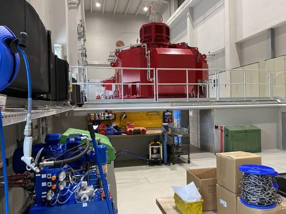 Kraftwerk Dietikon - Maschinenraum mit neuen Kaplanturbinen