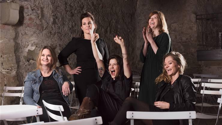 Die Rocketten, v.l.: Dominique Niklaus, Nina Kobelt, Miriam Lenz, Sarah Pfäffli und Simone Lippuner.