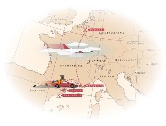 Das sind die Stationen der Flucht von Carles Puigdemont, die ihn nach Brüssel führte.