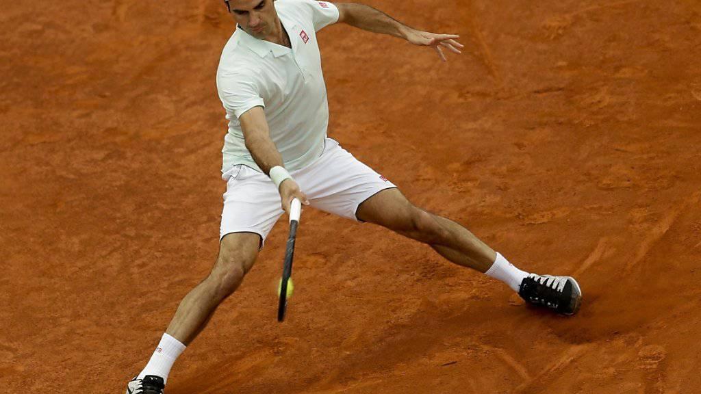Roger Federer kehrte nach drei Jahren Absenz auf souveräne Weise auf die Sand-Unterlage zurück