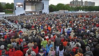 Über 80000 Besucher strömten an die Gottesdienste in München