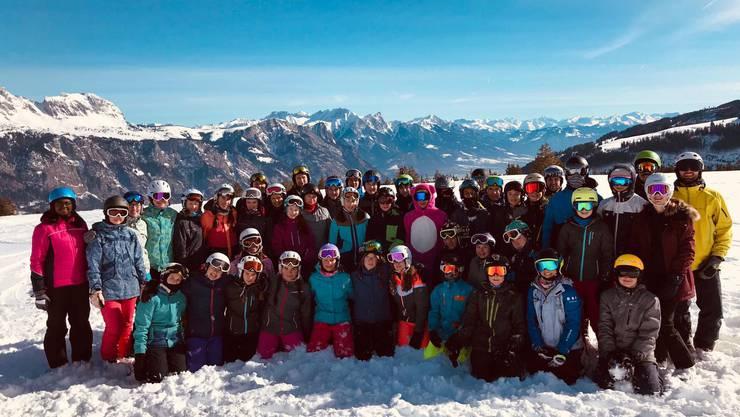 Das Skilager der 2. Sek P Kantonsschule Olten in den Flumserbergen.