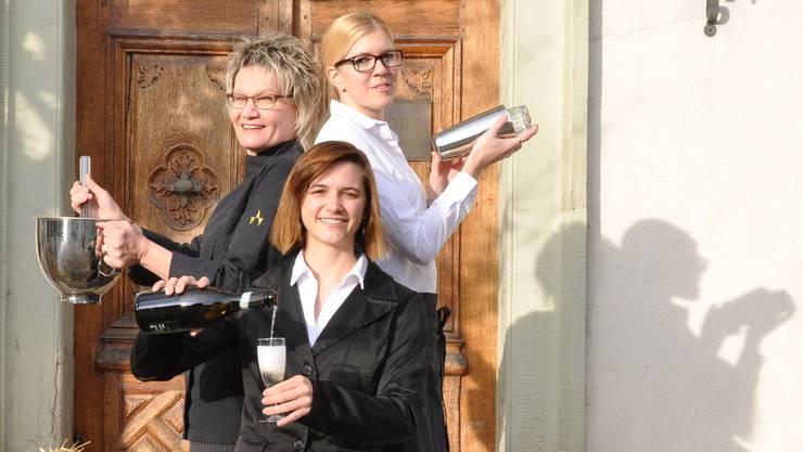 Doris Nievelstein, Sarah Schmutz und Jasmine Stettler (v. li.) führen das «Pisoni».