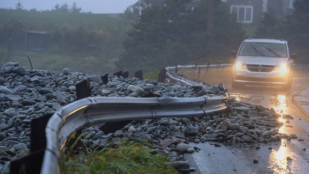 Der Sturm «Dorian» hat Kanada am Samstagabend erreicht und dort zahlreiche Verwüstungen angerichtet.