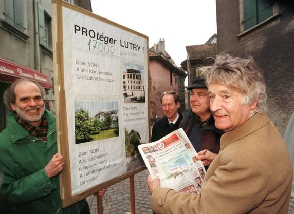 Der Landschafts- und Umweltschützer Franz Weber ist am vergangenen Dienstag im Alter von 91 Jahren gestorben. (Bild von 1998).