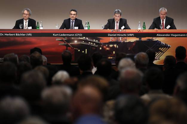 Herbert Baechler (VR), Kurt Ledermann (CFO), Daniel Hirschi (VRP), Alexander Hagemann (CEO)
