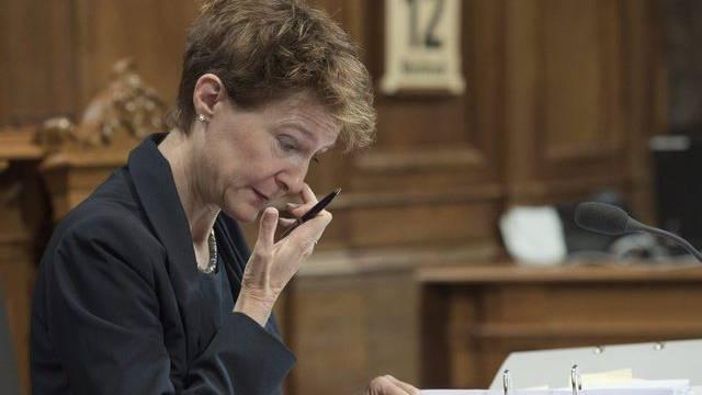 Die zuständige Justizministerin Simonetta Sommaruga im Ständerat (Archiv)
